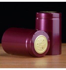 Burgundy Shiny PVC, 15 Pack