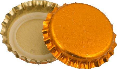 144 each- Oxygen Barrier Metallic Orange Caps
