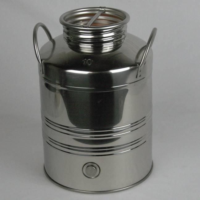 10 L Screw Lid Stainless Steel Olive Oil Drum