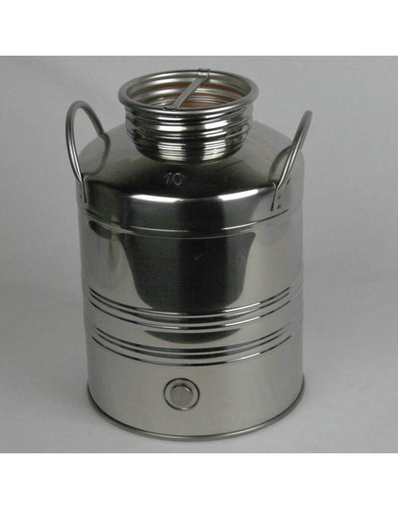 10 L Screw Lid Stainless Steel Olive Oil Drum