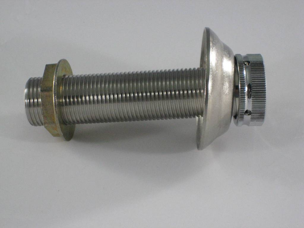 "Beer Shank Assembly, 4"" x 1/4"" Bore, Stainless Steel"