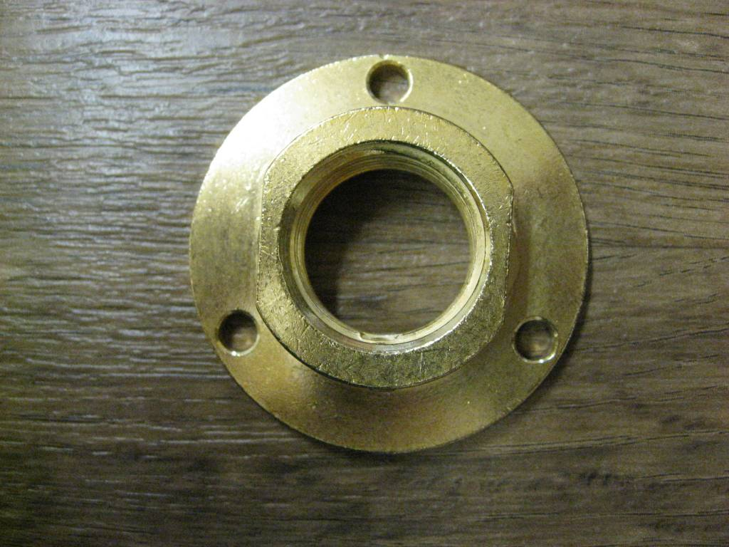 Locking Flange for Wall Shank
