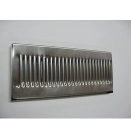"""Stainless Steel 14""""x6"""" Drip Tray, no drain"""