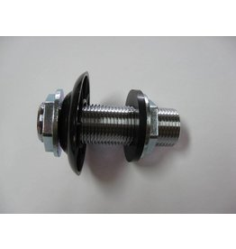 """Krome 3"""" x 5/16"""" Bore Cooler Wall Coupling Assembly, Chrome Plated"""