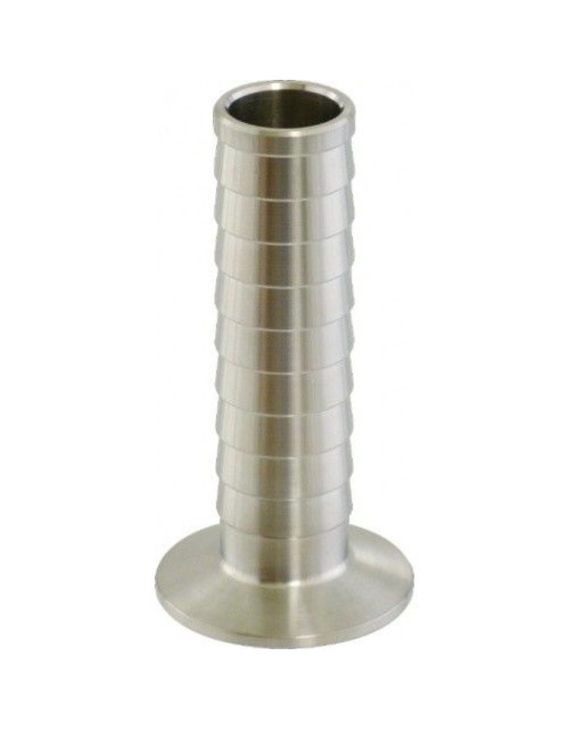 "1.5"" Tri-Clamp x 1"" Barb, Stainless Steel"