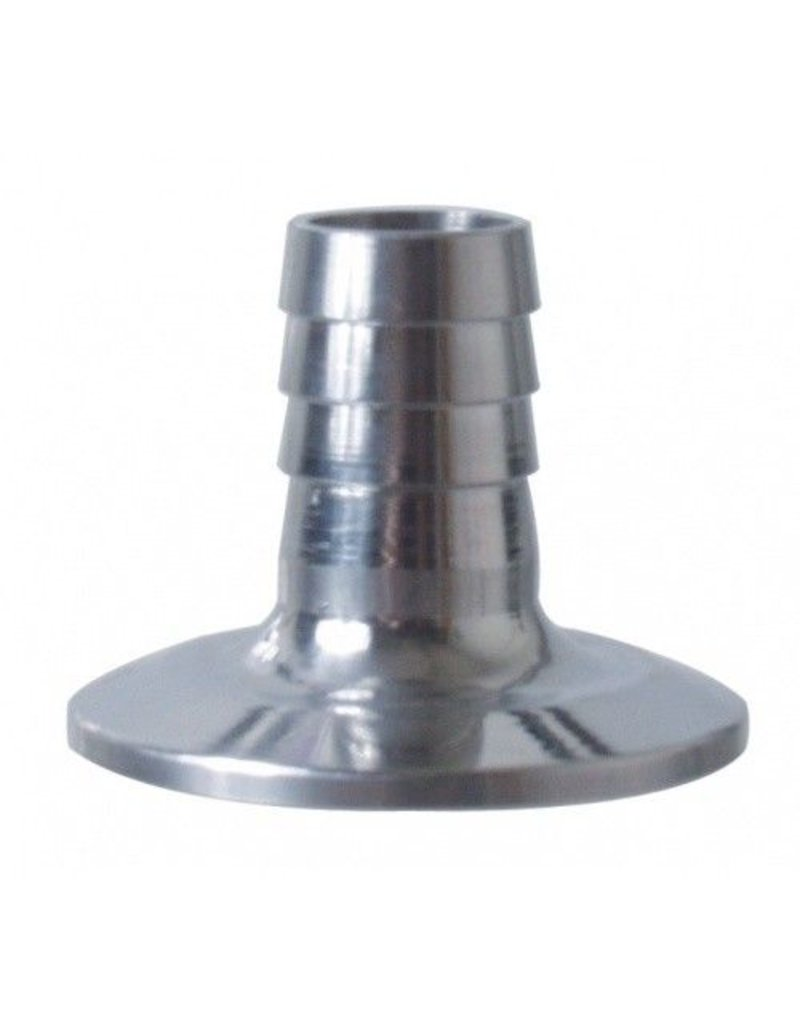 """1.5"""" Tri-Clamp x 3/4"""" Barb, Stainless Steel"""