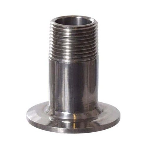 """1.5"""" Tri-Clamp x 3/4"""" MPT, Stainless Steel"""
