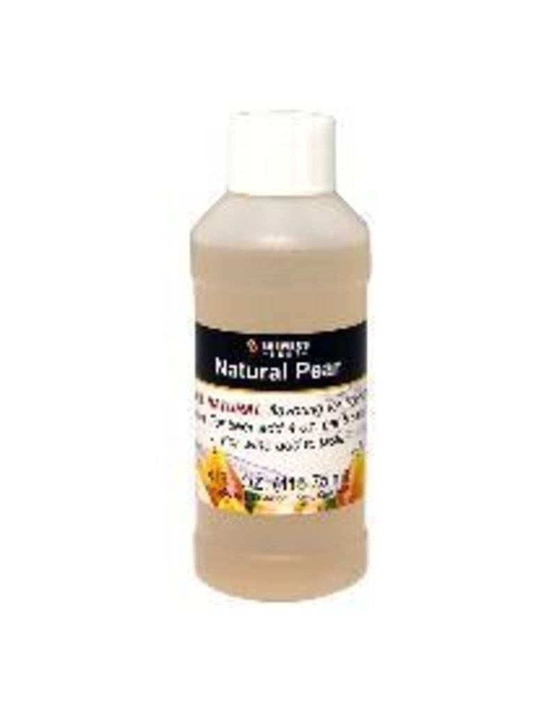Natural Pear Flavoring, 4 oz.