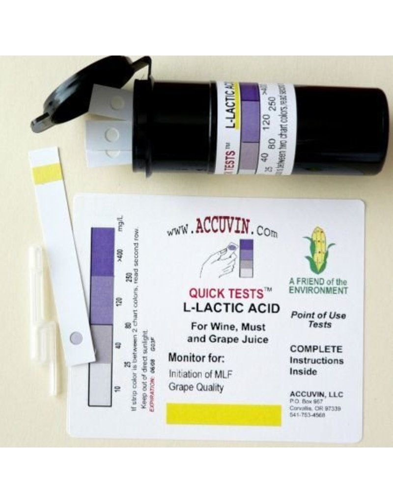 Accuvin L-Lactic Acid Test Kit, 5/pk.