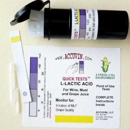 Accuvin L-Lactic Acid Test Kit, 5/pk.