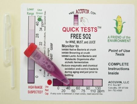 Accuvin Free SO2 Test Kit, 10/pk.