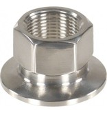 """1.5"""" Tri-Clamp x 3/4"""" Female BSPP, Stainless Steel"""