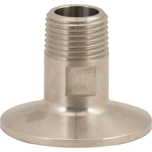 "1.5"" Tri-Clamp x 1/2 in MPT (Full Port), Stainless Steel"