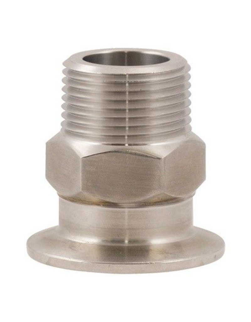 "1.5"" Tri-Clamp x 1"" MPT, Stainless Steel"