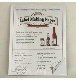 White Label Making Paper, Pack of 18