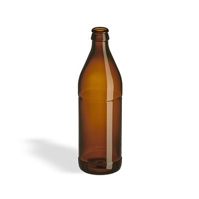 500ml Glass Euro Bottle, case of 12