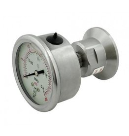 "1.5"" T.C. Back Mount 30 PSI Gauge"