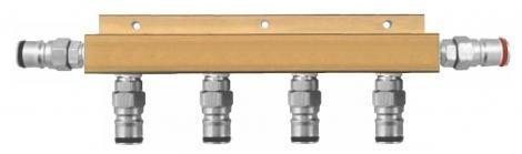 5-Line Ball Lock Sanitizing Manifold