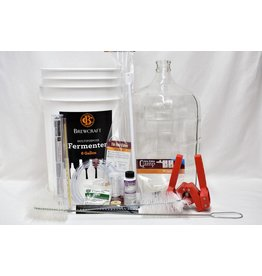 Beer Equipment Starter Kit w/ 6 Gallon Glass Carboy