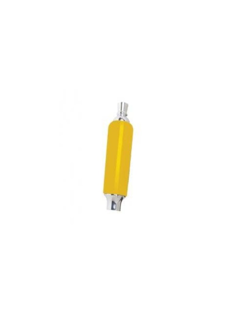 Krome Plastic Tap Handle w/ Ferrule and Finial, Yellow