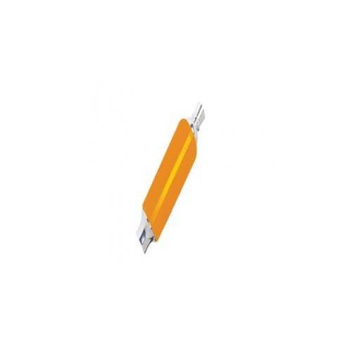 Krome Plastic Tap Handle w/ Ferrule and Finial, Orange