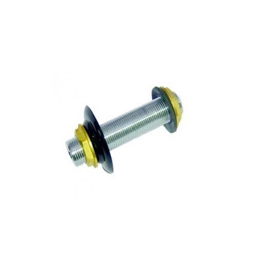 """Krome 4.5"""" x 3/8"""" Bore SS304 Beer Coil Cooler Wall Coupling"""