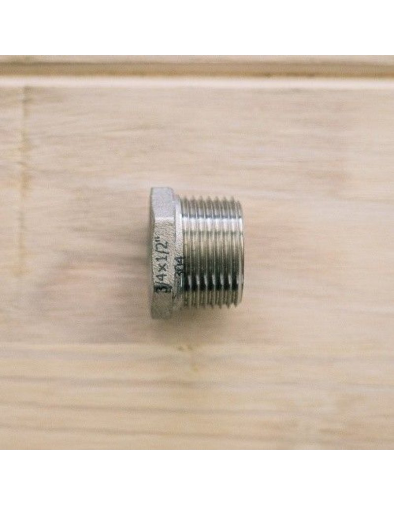 """Bushing, 1/2""""FPT x 3/4""""MPT, S/S"""