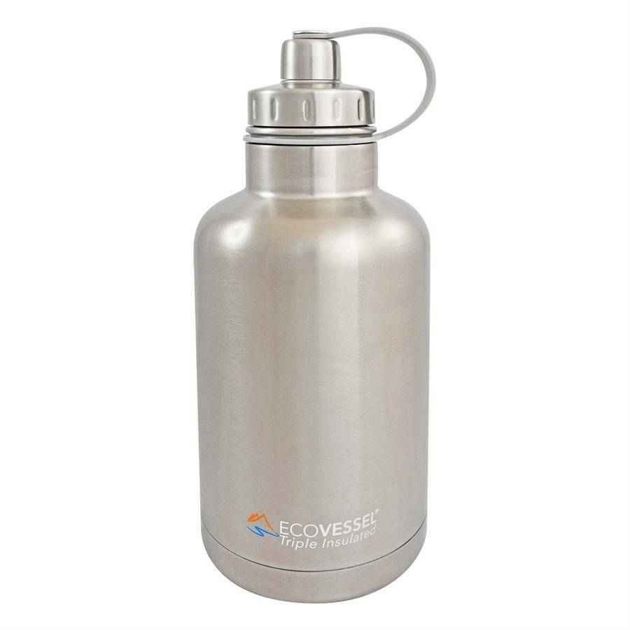 EcoVessel BOSS Triple Insulated SS Growler, 64 oz (Silver)