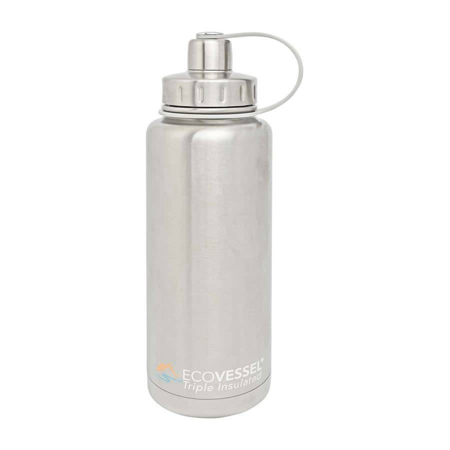 EcoVessel BOULDER Triple Insulated SS Growler, 32 oz (Silver)