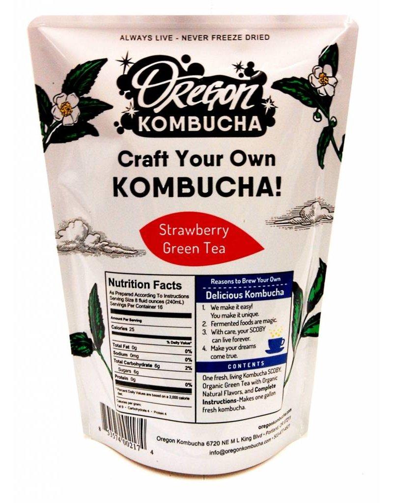 Oregon Kombucha Kombucha Starter, Strawberry Green Tea