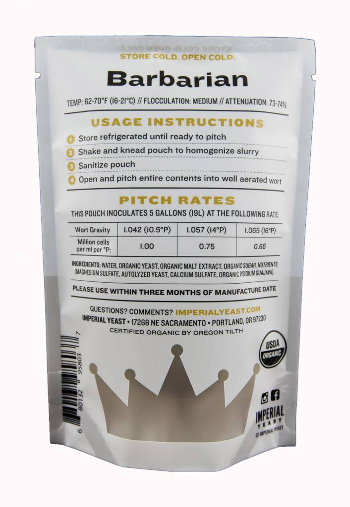 Imperial Organic Yeast A04 Barbarian - Imperial Organic Yeast