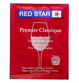 Red Star Premier Classique Wine Yeast, 5 gm - Red Star
