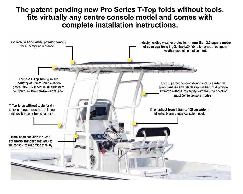 Fishmaster Pro Series T Top White Arnolds Boat Shop Marine Center Console Wiring Diagram