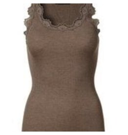 Rosemunde Silk Tee Top with Lace