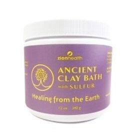 ZionHealth Adama Ancient Clay Bath w/Sulfur 12 oz.