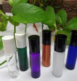 Roller-Top Purple Glass w/Black Top 1/3fl oz