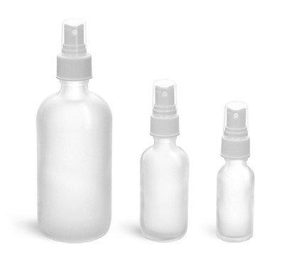 Glass Spray Bottle 4 fl oz Frosted