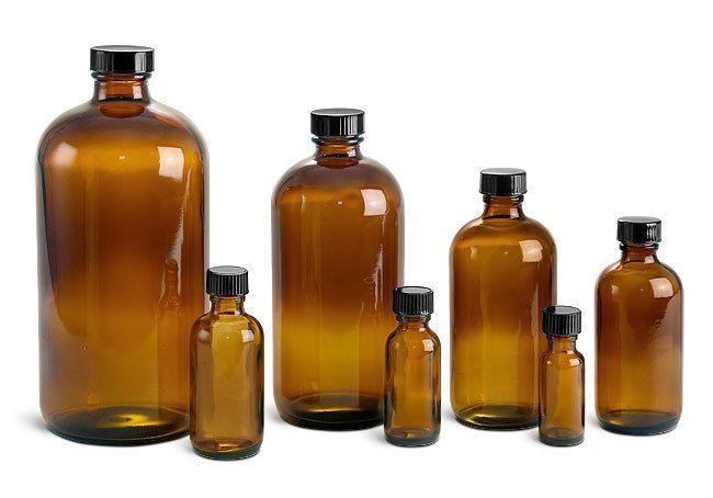 Amber Glass Bottle 4  fl oz