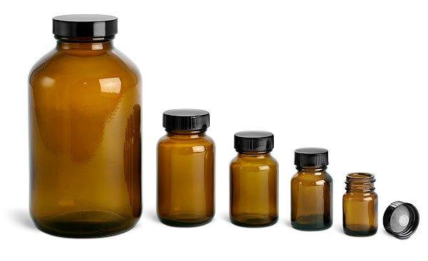Amber Glass Vitamin Bottle 120cc