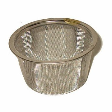 Mason Jar, WIDE Tea Strainer w handle (74-79mm dia 45mm ht)