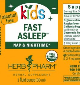 Herb Pharm Kids Fast Asleep 1 fl oz