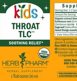 Herb Pharm Kids Throat TLC 1 fl oz