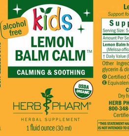 Herb Pharm Kids Lemon Balm Calm 1 fl oz