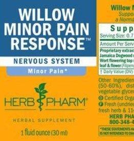 Herb Pharm Willow Minor Pain Response - 1 fl oz