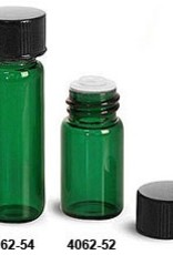 Glass Vial 1 Dram-Green w/orifice reducer