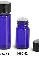 Glass Vial 5/8 Dram-Blue w/orifice reducer