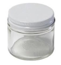 Clear Glass Salve Jars  2 fl oz
