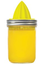 Juicer Lid for Wide Mouth Mason Jars, Yellow