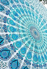Tapestry Cotton Mandala (90 X 54) Light Blue