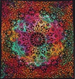 Tie Dye Star Elephant Tapestry (84 x 90)